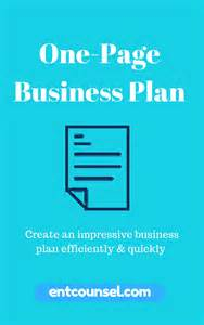 ultimate business plan template one page business plan landing page entcounsel