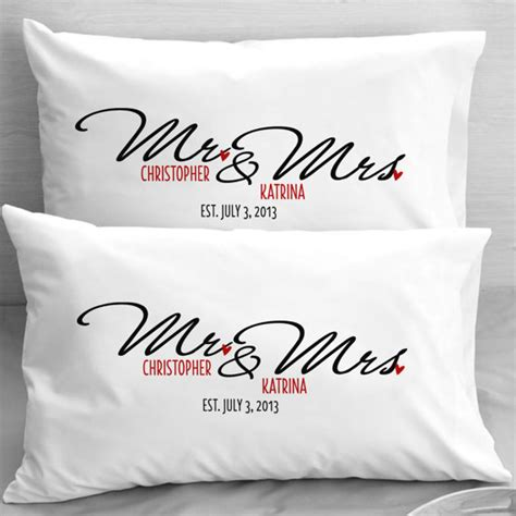 items similar to personalized mr and mrs pillow cases