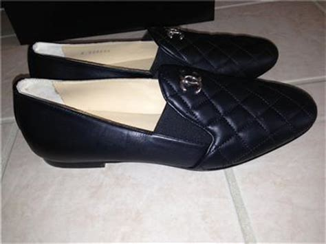chanel quilted loafers chanel black quilted loafers flats shoes sz 8 38 1 2 875