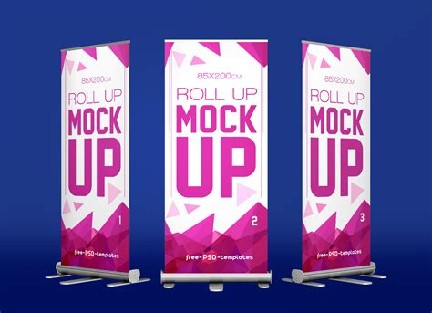Free Exhibition Roll up Standing Banner Mockup PSD   Good