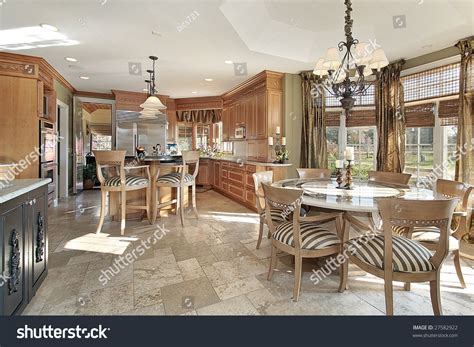 kitchen and eating area stock photos image 12656533 kitchen with island and eating area stock photo 27582922