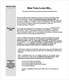 living will template free living will template 8 free documents in pdf