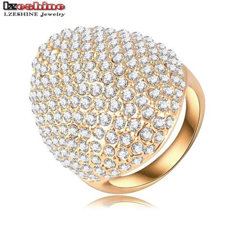 6 Bling Rings To Own by Lzeshine Custom Rings For Gold Plate Pave