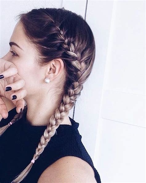 hairstyle with 2 shoulder braids 17 best ideas about two french braids on pinterest