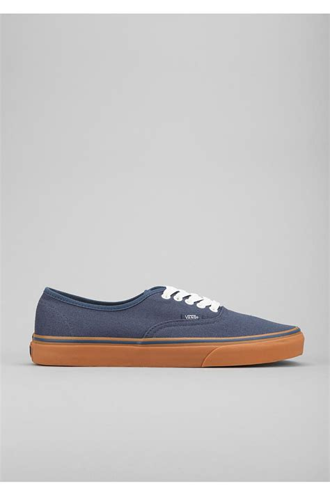 Vabs Authentic Navy Sole Gum vans authentic gum sole sneaker in blue for lyst