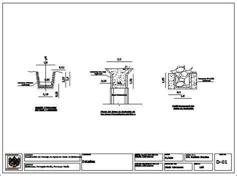 drainage section drawing transversal section of drainage channel dwg section for