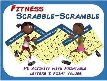 pe scrabble fitness scrabble scramble pe activity with printable