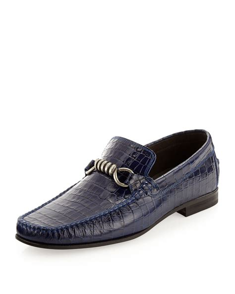 donald j pliner mens loafers donald j pliner danit loafer in blue for null lyst