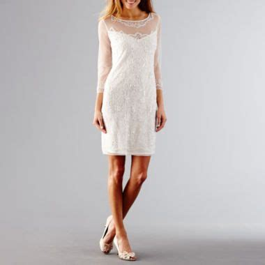 Found Ports Beaded Dress by Prelude 3 4 Sleeve Beaded Dress Found At Jcpenney Lace