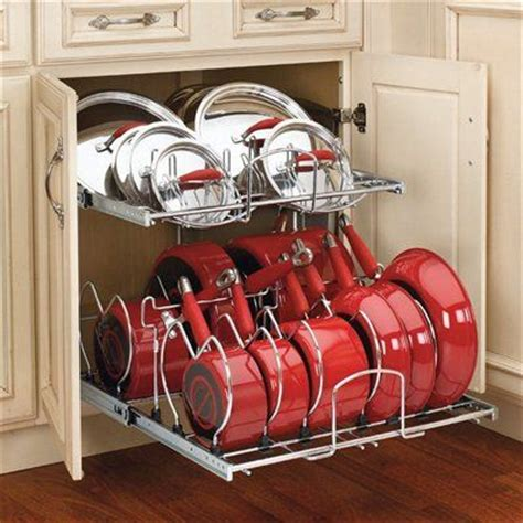 Rev A Shelf 2 Tier Cookware Organizer by Rev A Shelf 5cw2 2 Tier Cookware Organizer