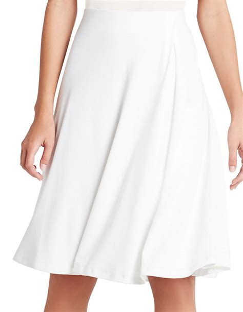 bcbgeneration flowy pleated midi skirt in white lyst
