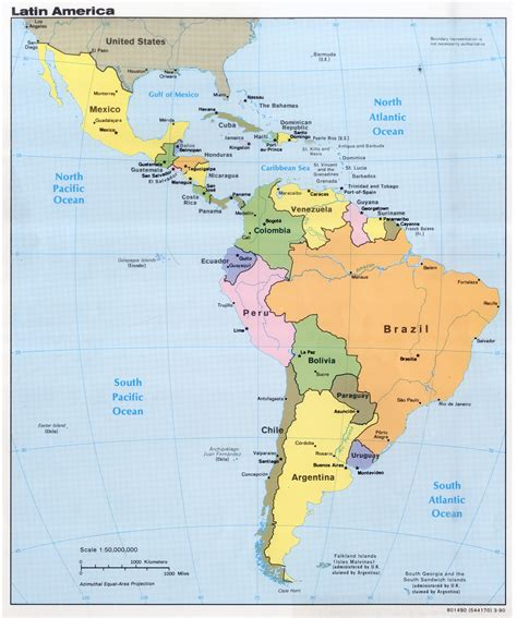 south america political map with major cities large detailed political map of america with