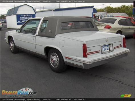 1988 cadillac coupe 1988 cadillac coupe light pearl gray gray