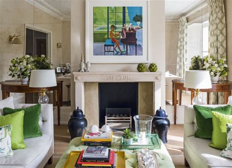 Neutral Green Living Room by Give A Living Room Character With Clever Colour Ideas