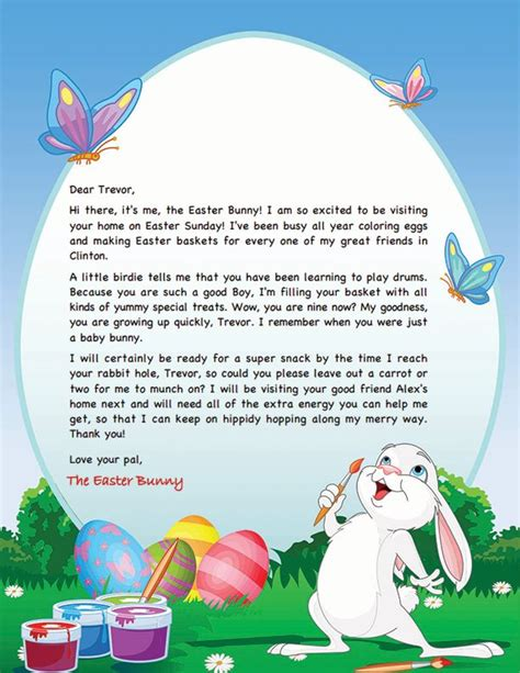 Easter Card Template Microsoft Word by 243 Best Images About Easter Bunny Letters On