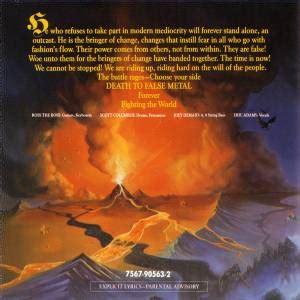 Cd Manowar Fighting The World manowar fighting the world cd re release