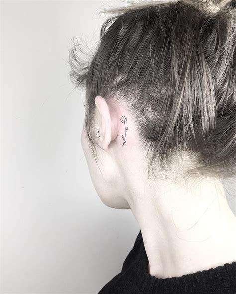pinterest tattoo behind ear behind the ear flower tattoo tattoos on women