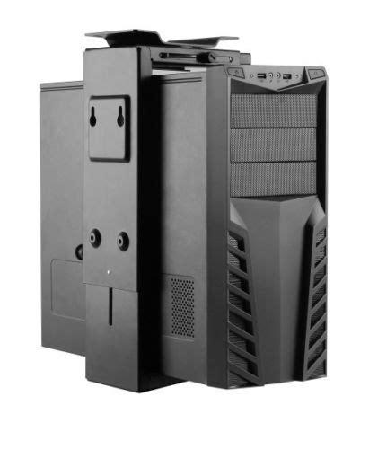 desk pc mount adjustable desk or wall desktop pc cpu mount 360