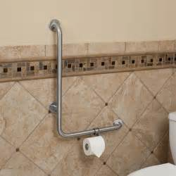 grab bars for toilet in bathrooms pickens l shape grab bar with toilet paper holder bathroom