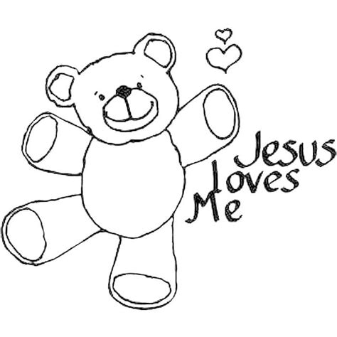 jesus loves me coloring pages coloring home