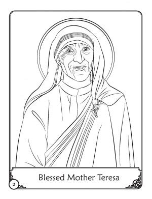 herald store free blessed mother teresa coloring pages