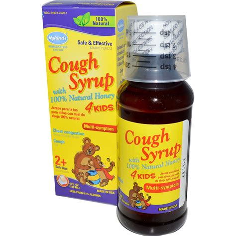 cough medicine hyland s cough syrup 4 with 100 honey 4 fl oz 118 ml iherb