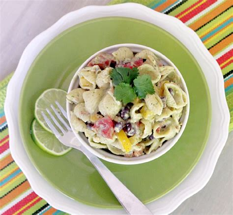 mexican pasta salad mexican pasta salad with avocado and toasted garlic greek