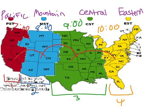 map of usa showing states and timezones showme time zones united states