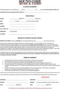 Dj Booking Contract Template by Dj Contract Template For Excel Pdf And Word