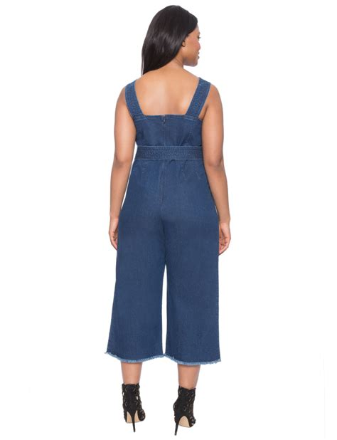 Cropped Jumpsuit cropped denim tie jumpsuit s plus size dresses