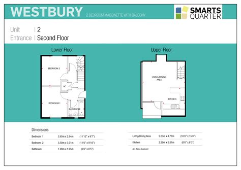 Open Living Space Floor Plans Westbury New 2 Bed Duplex Smarts Quarter Bristol