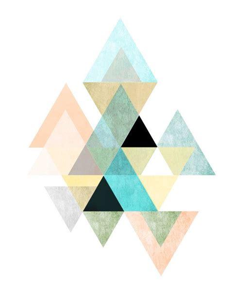 printable wall art pattern triangle print printable art geometric art scandinavian