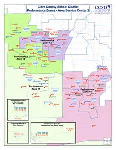 Las Vegas Zoning Map by Performance Zones Clark County District