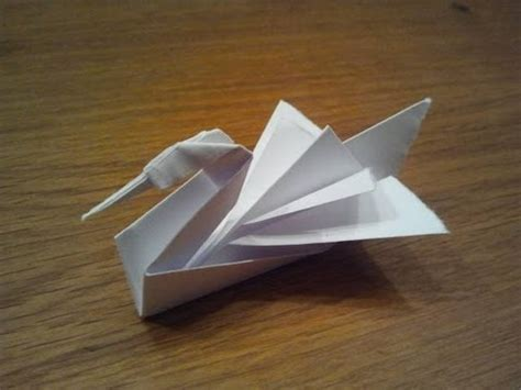 Make A Paper Swan - how to make an origami swan