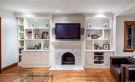 built in shelves living room built in unit with asymmetrical shelving contemporary