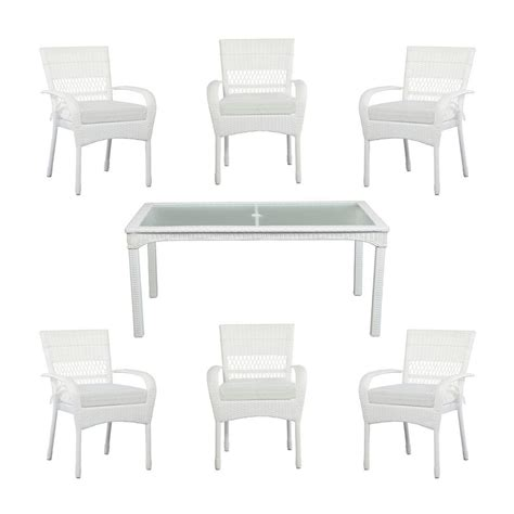 Martha Stewart Living Charlottetown White All Weather 7 Martha Stewart 7 Patio Dining Set