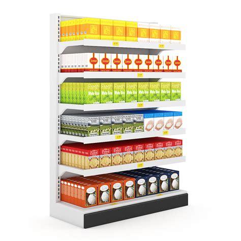 Shelf Supermarket by Supermarket Shelf 04 3d Model C4d Cgtrader