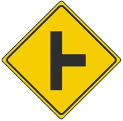 side road warning signs usa traffic signs