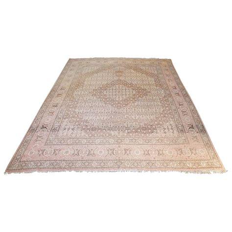 softest fiber rug vintage style wool rug soft pinks and browns for sale at 1stdibs