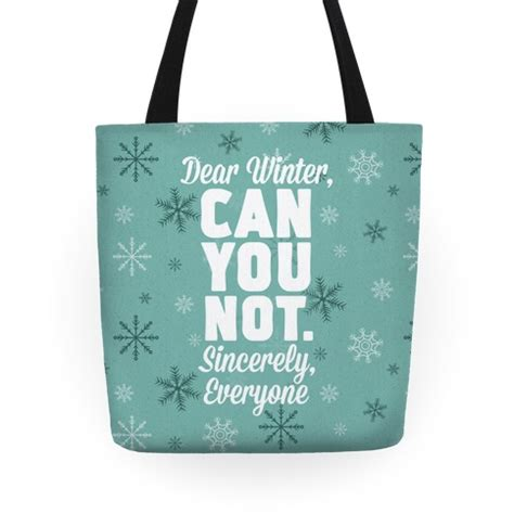 Canvas Tote Bag Dear dear winter tote bags grocery bags and canvas bags human