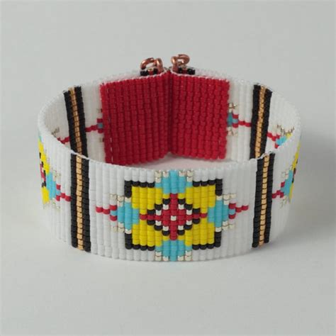 beading looms for sale items similar to sale tribal bull s eye bead loom cuff