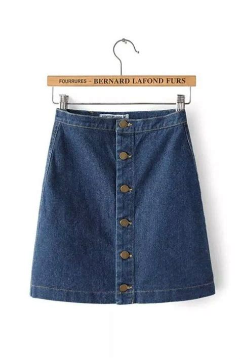 blue denim button up mini skirt to be