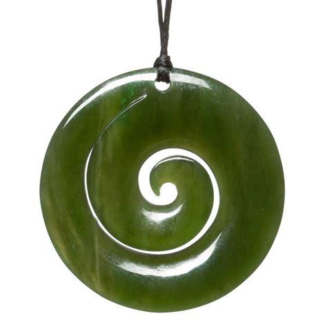 koru jade greenstone pendant silverfernz