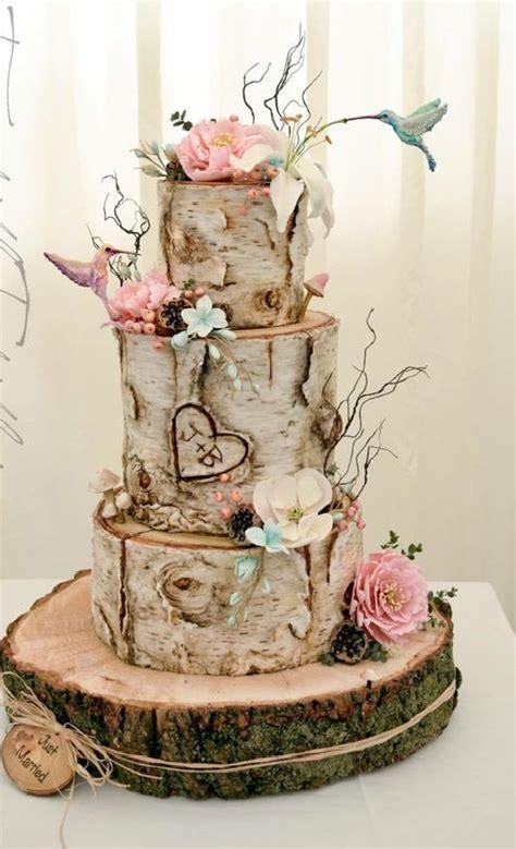 Hochzeitstorte Holzoptik by Boho Inspired Cake Ideas For Wedding Reception