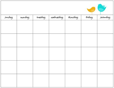Free Calendar Printable   blank calendar printable