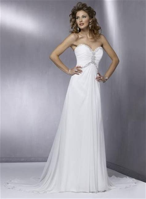 strapless chiffon wedding dress with court train sang
