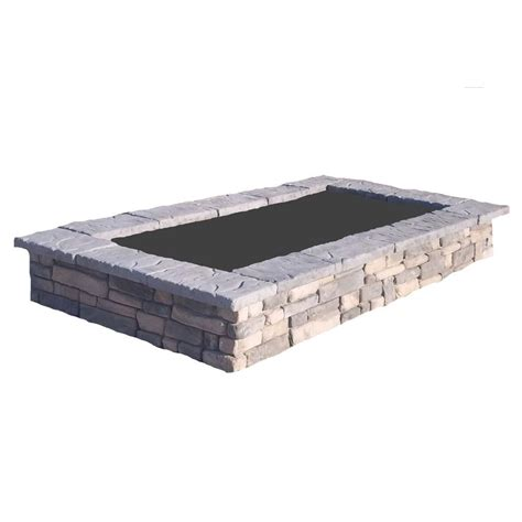 107 in random limestone rectangular concrete planter