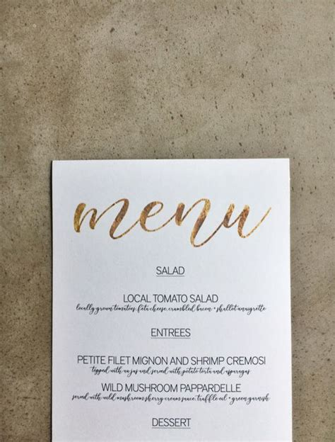 simple menu template free gold menu template matrimonio matrimoni
