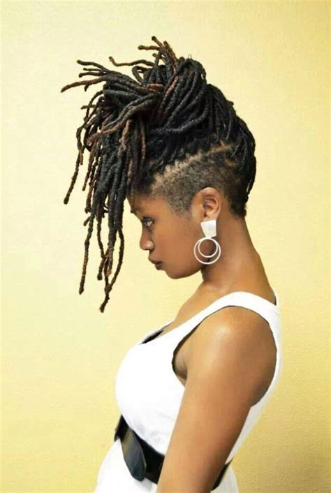 black women mohawk hairstyles and dreads in the middle 65 best images about shaved sides braids twists on