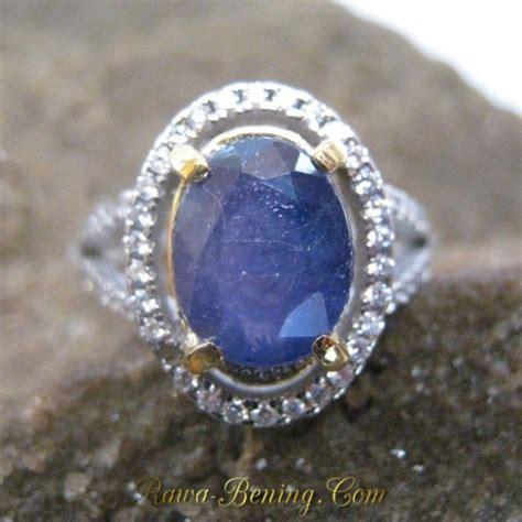 Kotak Cincin Putih Jewellery Box cincin wanita batu permata safir biru 2 5 carat silver 925
